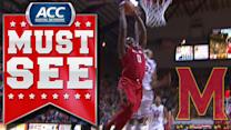 Maryland Big Man Charles Mitchell Keeps It For Dunk Off Turnover | ACC Must See Moment