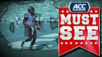 UNC's WR Quinshad Davis Throws Touchdown To QB Marquise Williams | ACC Must See Moment