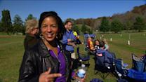 Goal oriented: At a soccer game with Susan Rice