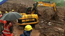 Workers Dig for Survivors After India Landslide