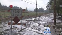 Mudslide cleanup continues after mountain storms