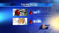 Gas, cigarette tax go up