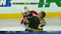 Krys Barch and Shawn Thornton scrap