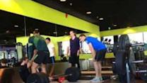 Weightlifter Blacks Out During Lift