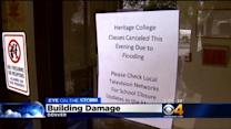 Heritage College Cancels Classes After Lobby Floods