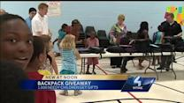 Backpacks filled with supplies given to area children