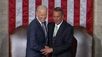 Biden and Boehner's Pre-Speech Hug