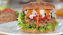 Upgrade Your Grill Out With These Buffalo Blue Cheese Turkey Burgers