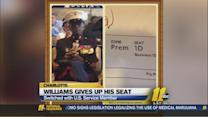 DeAngelo Williams gives up his seat, switches  with U.S. Service Member in Charlotte