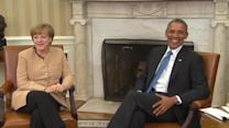 Obama, Merkel meet in White House, strategize over Russia and Ukraine