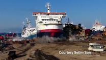 Turkish ferry makes high-speed final landing