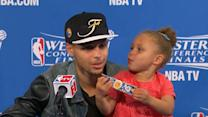 Riley Curry steals the show in post-game press conferences