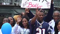Super Bowl Hero Honored With Hometown Parade