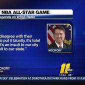 Gov. Pat McCrory reacts to NBA moving All-Star Game out of Charlotte