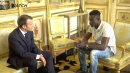 President Macron offers citizenship to migrant who saved dangling child