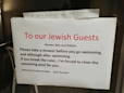 Anti-Semitic Signs In Hotel Say Jewish Guests Must Shower Before Swimming