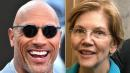 They're Running?!? The Rock And Elizabeth Warren Share The Love On Twitter