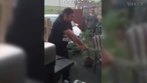 WATCH: Guy's epic failed attempt to cut a watermelon with a sword