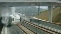 Spain train crash caught on security camera