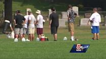 Hazing probe under way after football player drinks urine