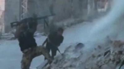 Raw: Violent Clashes in Two Syrian Cities
