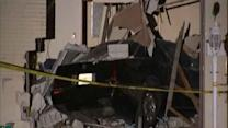 Police chase ends as vehicle crashes into house