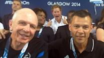 Prince Harry Photobombs New Zealand Officials At The Commonwealth Games