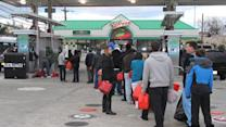More power, gas woes around NYC after Sandy