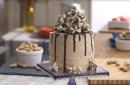Satisfy your sweet tooth with this peanut butter caramel corn cake