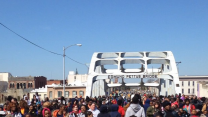Kids March Across Selma's Edmund Pettus Bridge