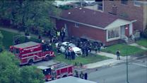 1 Killed after car crashes into home on Chicago`s South Side