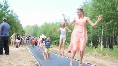 170-Foot-Long Trampoline!