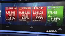 Europe shares close lower, but post strong gains for Q1