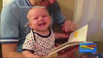 Baby Thinks Reading Is Hilarious