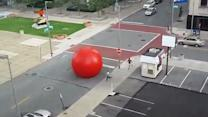 Big Red Ball Rolls Through Toledo