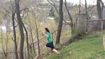 Rope swing attempt goes hilariously wrong