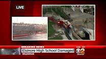 Thunderstorms Flood Inland Empire Streets, Cause Damage To School