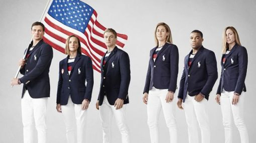 The U.S. Opening Ceremony outfits look like the Russian flag