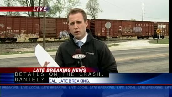 Man killed after truck hit by train