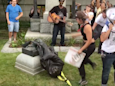 Twitter Video Shows Protesters Topple Confederate Statue in Durham