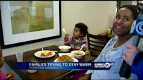 Some families ride out storm at hotels