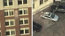 Falling bricks smash cars in Camden