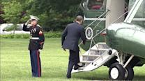 Did President Obama Forget to Salute?