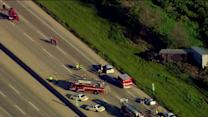 RAW: Flight For Life lands on I-88 at Farnsworth after major crash