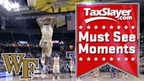 Wake Forest's Codi Miller-McIntyre Throws Down Awesome Two-Handed Slam | ACC Must See Moment