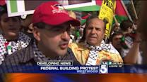 Hundreds Protest in Westwood Against Israeli Airstrikes