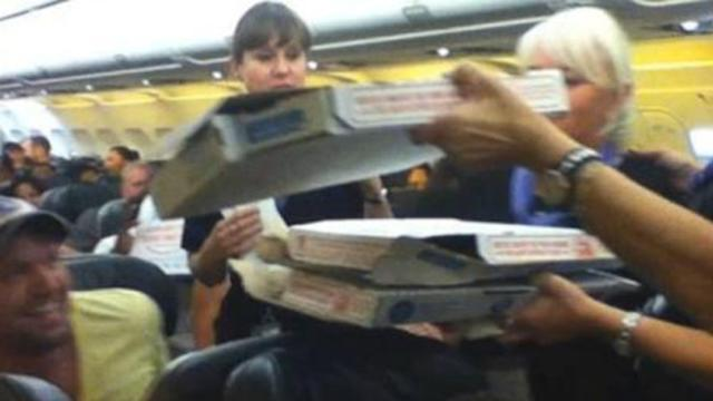 Pilot Orders Pizza to the Tarmac