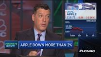 Apple down more than 2%