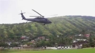 Chopper Takes Off From Koko Head School Field