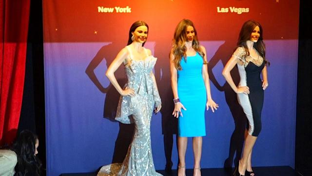 Sofia Vergara Shows Off Her Two New Wax Works